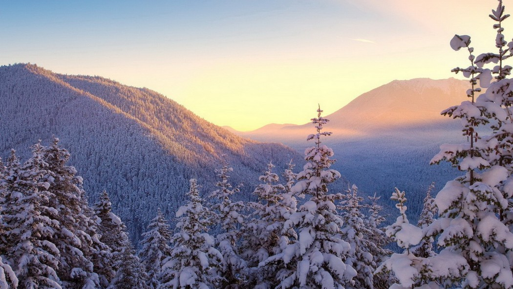 montagne crépuscule